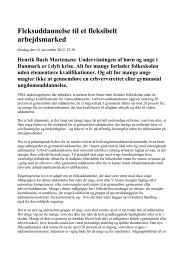 DA: Fleksuddannelse til et fleksibelt arbejdsmarked