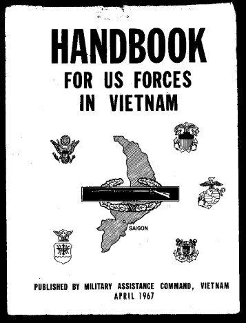 MACV Handbook US Forces Vietnam 1967 - West Virginia State ...
