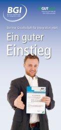 Ein guter - BGI Berliner Gesellschaft für integration mbH