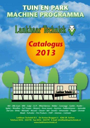Lankhaar Brochure 2013 - Meijdebie.nl