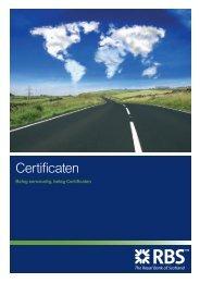 Certificaten brochure - Markets from RBS