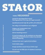 thema veiligheid - Netherlands Society for Statistics and Operations ...