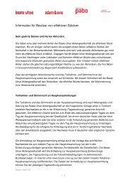 Information für Besitzer von effektiven Stücken - Beate Uhse AG