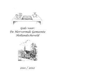 Gids voor: De Hervormde Gemeente Hollandscheveld 2011 / 2012