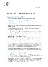 Vanliga frågor och svar om VA-strategin - Nynäshamns kommun