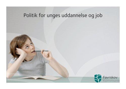 Politik for unges uddannelse og job - Jobcenter Favrskov