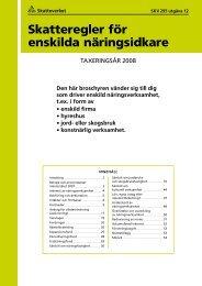 Skatteregler för enskilda näringsidkare, SKV 295 utg. 12 - Skatteverket