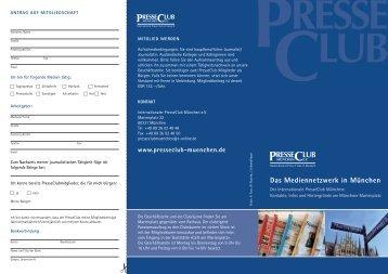 Das Mediennetzwerk in München - PresseClub-München