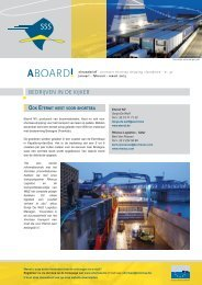 Nieuwsbrief 47 (2,10 MB) - Shortsea Shipping Vlaanderen