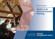 Master in de Personal Financial Planning - Antwerp Management ...