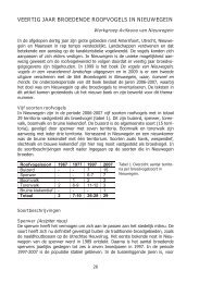 veertig jaar broedende roofvogels in nieuwegein - Vogelwacht Utrecht