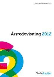 Ta del av vår Årsredovisning 2012 - Tradedoubler