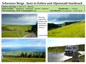 Schweizer Berge , Seen in Italien und Alpenstadt ... - womoreisen.info