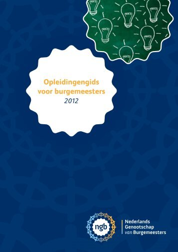Opleidingengids Burgemeesters 2012 - Gemeente Waterland
