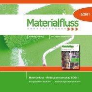 Materialfluss - Redaktionsvorschau 5/2011  - materialfluss.de