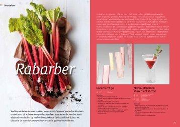 Martini Rabarber, shaken not stirred Rabarberchips - Hollandia