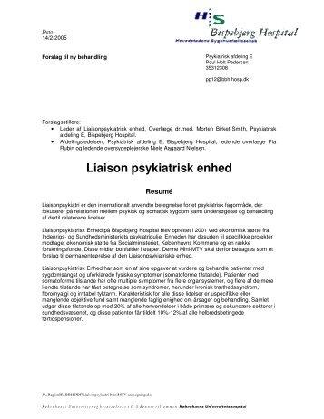 Liaison psykiatrisk enhed - Region Hovedstadens Psykiatri