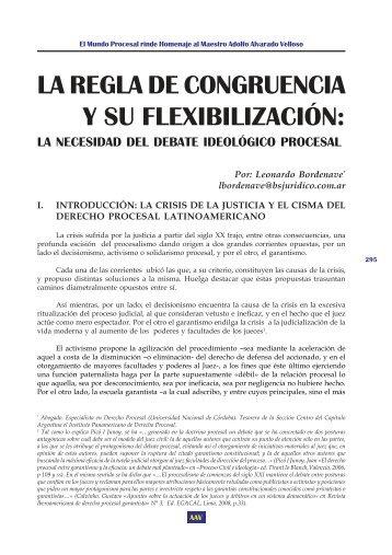 LA REGLA DE CONGRUENCIA Y SU FLEXIBILIZACIÓN: - EGACAL