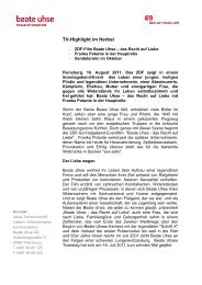 TV-Highlight im Herbst - Beate Uhse AG