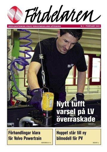 Nummer 02 - Februari 2009 - Volvo Verkstadsklubb Göteborg