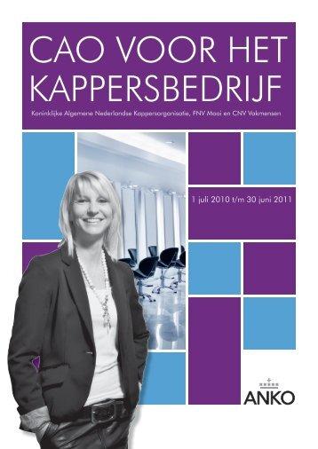tekst CAO Kappers 2010-2011 - Anko