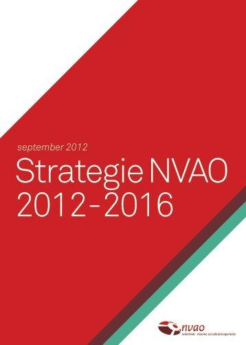 Strategie NVAO 2012-2016