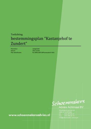 Toelichting - Kastanjehof - Zundert