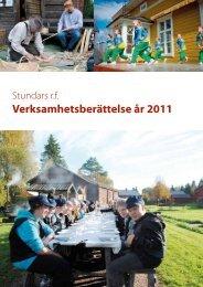 Verksamhetsberättelse år 2011 - Stundars