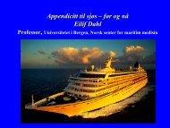 Appendicitt ombord ved professor, cruiselege Eilif Dahl