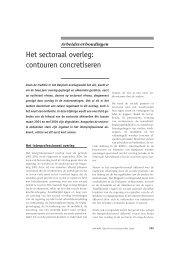 Het sectoraal overleg: contouren concretiseren - Acco