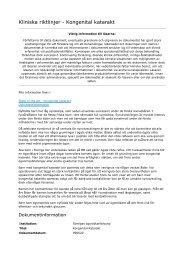 Kliniska riktlinjer_ Kongenital katarakt - Sveriges ögonläkarförening