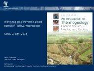 Barrierer i jordvarmeprojekter, Henrik Dyrehauge - Regeocities