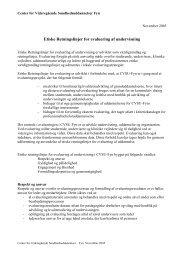 Etiske Retningslinjer for evaluering af undervisning
