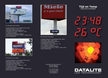 Tijd en Temperatuur digitale klokken - DATALITE LED Technology BV