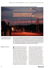 Vleermuisvriendelijke LED-verlichting op de A74 - Rijkswaterstaat