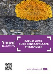 Boekje over: oUDe BeGrAAFPLAATS vrIeZeNveeN - Rustplaatsen