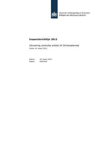 Inspectierichtlijn 2012 Uitvoering controles artikel 24 ... - Infodwi.nl