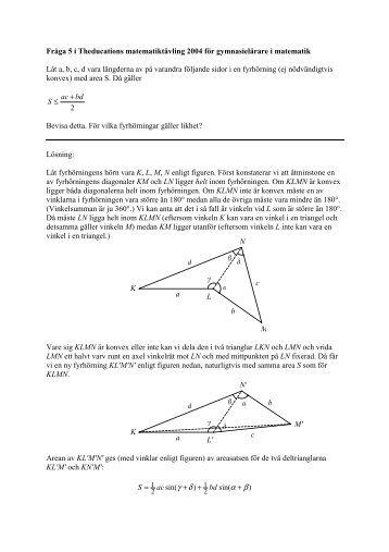 Lösningsförslag fråga 5