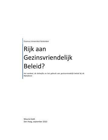 Klik hier voor de scriptie van Mounia Saidi. - Flitspanel.nl