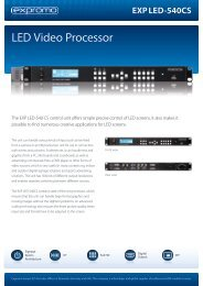 LED Video Processor - Expromo Europe