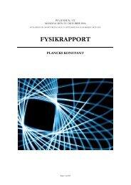 FYSIKRAPPORT