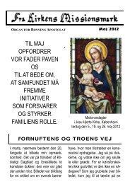 til maj opfordrer vor fader paven os til at bede om, at samfundet må ...