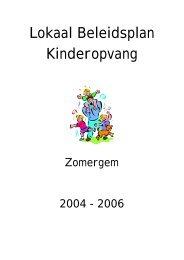 Lokaal Beleidsplan Buitenschoolse Kinderopvang - Zomergem.be