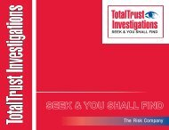 BROSURA GRENA ENGL.cdr - About Total Trust Investigations
