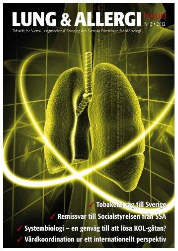 LUNG &ALLERGIFORUM - Svensk Lungmedicinsk Förening