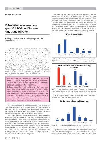 Prismatische Korrektion gemäß MKH bei Kindern und Jugendlichen