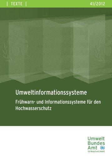 Umweltinformationssysteme - Frühwarn- und ... - Pop-dioxindb.de