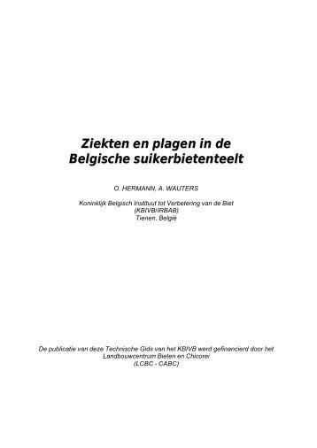 Ziekten en plagen in de Belgische suikerbietenteelt - Koninklijk ...