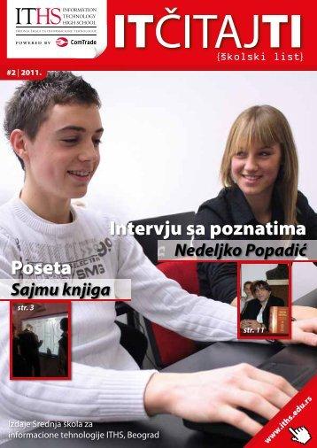 Poseta Intervju sa poznatima - ITHS - Srednja škola za informacione ...