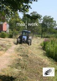 MAAIWERK MAATWERK hoofddocument.pdf - Haags Milieucentrum